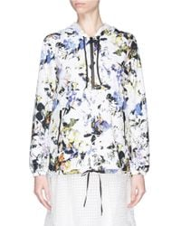 Elizabeth And James 'Ali' Floral Print Windbreaker Jacket multicolor - Lyst