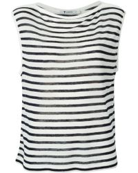 T By Alexander Wang Striped Top - Lyst