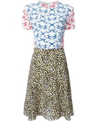 Stella McCartney Mix Print Dress multicolor - Lyst