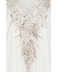 Amanda Wakeley   White Embellishment Caftan   Lyst