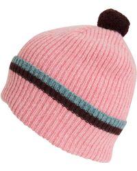 Quinton-chadwick - Pink Lambs Wool Knit Beanie Hat - Lyst