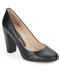 French Connection Round Toe Pumps - Lyst