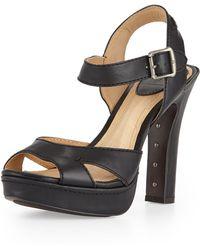 Frye Samantha Seamed Leather Sandal - Lyst
