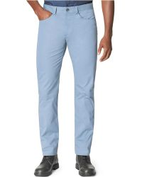 Calvin Klein Slim-fit Sateen Fashion Color Pants - Lyst
