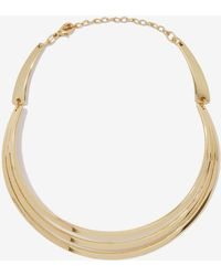 Nasty Gal Just Tri Me Collar Necklace gold - Lyst