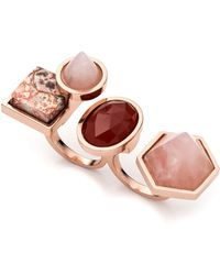 Eddie Borgo - Rose Golden-plated Two-finger Composition Ring - Lyst