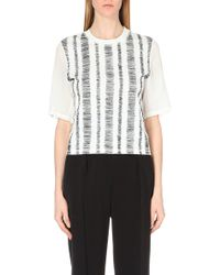 3.1 Phillip Lim Cotton And Silk Top - For Women - Lyst