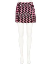 River Island Black Chelsea Girl Fluro Geometric Mini Skirt - Lyst