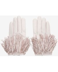 Exclusive For Intermix Fringe Gloves Pink - Lyst