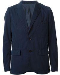 Paul Smith Blue Buttoned Blazer - Lyst