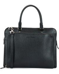 Ferragamo Revival Textured Leather Briefcase