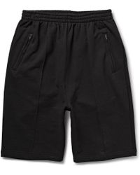 Raf Simons Printed Loopback Cotton-Jersey Shorts - Lyst