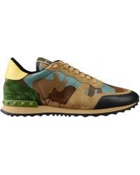 "Valentino ""Rockstud"" Camouflage Sneakers multicolor - Lyst"