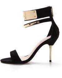 Carvela Kurt Geiger Given Ankle Cuff Sandals Black - Lyst