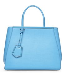 Fendi Light Blue 2Jours Tote - Lyst