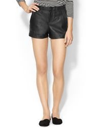 Rag & Bone Seperating Leather Short - Lyst
