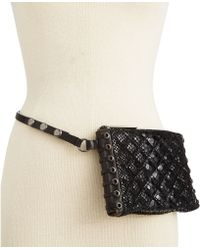 Michael Kors Michael Quilted Snake Belt Bag - Lyst