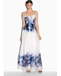 Milly Floral Mirage Organza Gown - Lyst