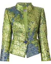 Yves Saint Laurent Vintage Fitted Brocade Jacket - Lyst