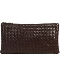 Bottega Veneta Wallet Make Up Bag Intrcciato - Lyst