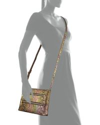 Hobo Mara Iridescent Snakeembossed Crossbody Bag - Lyst