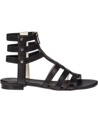 MICHAEL Michael Kors Codie Gladiator Sandal Black Leather - Lyst