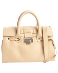 Jimmy Choo Nude Leather 'Rosalie' Convertible Satchel - Lyst