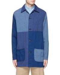 FDMTL - Soutien Collar Patchwork Cotton Coat - Lyst