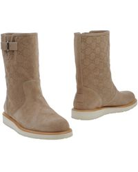 Gucci Beige Ankle Boots - Lyst