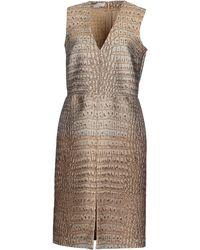 Stella McCartney Knee-Length Dress beige - Lyst