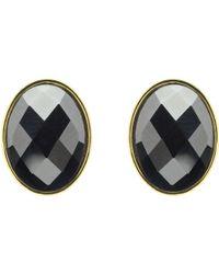 Monet - Hematite Oval Stud Earrings - Lyst