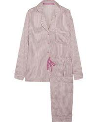 Calvin Klein - Striped Jersey Pyjama Set - Lyst