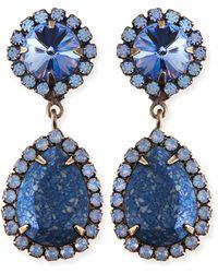 Dannijo Monaco Light Blue  Crystal Statement Earrings - Lyst
