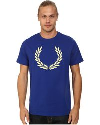 Fred Perry Laurel Print T-Shirt - Lyst