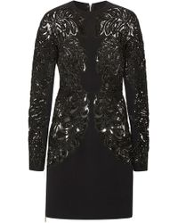 Elie Saab Embroidered Cady Sheath Dress - Lyst