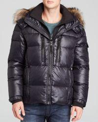 Sam. - Mountain Down Jacket with Fur Trim - Lyst
