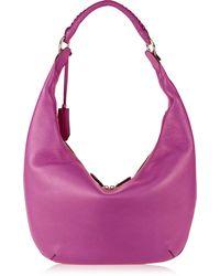 Diane Von Furstenberg Sutra Crescent Textured-leather Hobo Bag - Lyst