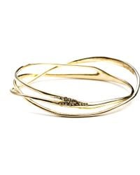 Alexis Bittar Gold Interlaced Bangle - Lyst