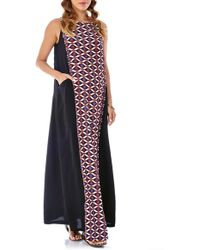 Imanimo - Print Front Panel Maternity Maxi Dress - Lyst