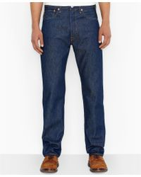 Levi's Big and Tall 501 Original Shrink to Fit Rigid Jeans - Lyst