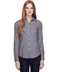 Brooks Brothers Gingham Shirt - Lyst