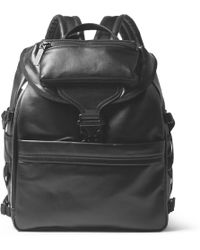 Alexander McQueen Black Leather Backpack - Lyst