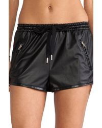 Stylestalker Perforated Pu Shorts - Lyst