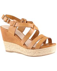 Aldo Frignani Wedge Strap Sandals - Lyst
