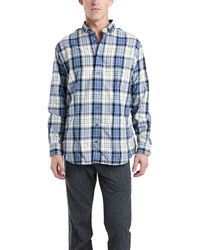 Blue&Cream Blue/Cream Flannel Shirt blue - Lyst