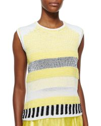 Risto - Grid-Pattern Sleeveless Knit Top - Lyst