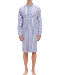 Barneys New York Blue Stripe Nightshirt - Lyst