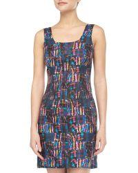 Cynthia Rowley Madras Plaid Silk Tank Dress - Lyst