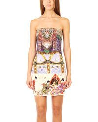 Camilla Strapless Mini Dress multicolor - Lyst