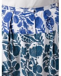 Dosa - Printed Button Skirt - Lyst